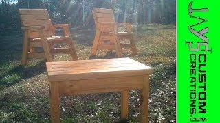 Outdoor Arm Chairs And Side Table: Video 1 - 001