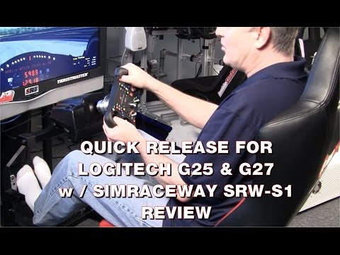 Simulaje Quick Release for Logitech G25 & G27 - with SimRaceWay SRW-S1