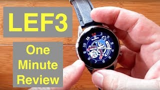 LEMFO LEF3 4G Android 7.1.1 Always Time Display Stainless Steel Smartwatch: One Minute Overview