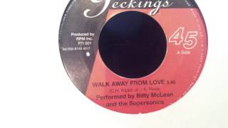 Bitty McLean & The Supersonics - Walk Away From Love