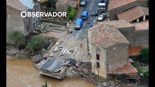 Leslie causa inundações sem precedentes em França