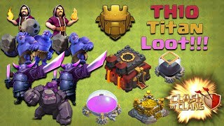 TH10 Loot Attack Strategy - Titan League - 7k Dark Elixir Loot - Clash of Clans