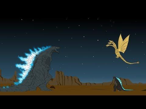 Godzilla Earth Vs King Ghidorah - Shin Godzilla - Muto P2 | Godzilla Cartoons