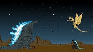 Godzilla-Erde vs King Ghidorah - Shin Godzilla - Muto P2   Godzilla-Cartoons
