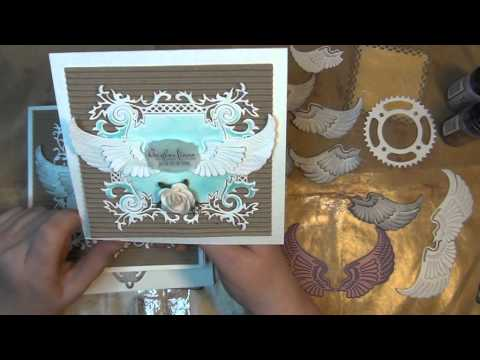 ANGEL THEMED CARDS WITH DISTRESS STAINS AND DIE CUT PIECES