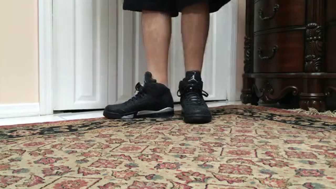 Air Jordan 3Lab5 Black Metallic Silver On Foot - YouTube d23ebc486