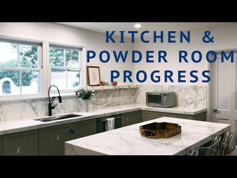 HOUSE UPDATE: Kitchen & Powder Room Progress