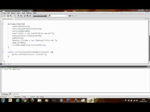 JAVA Tutorial - Designing a Basic Graphical User Interface (GUI) Part 1 - Session 5