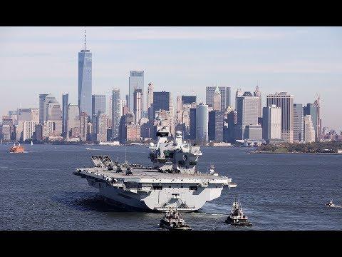 HMS Queen Elizabeth arrives in New York