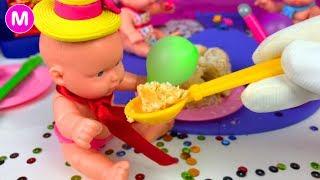 Играем в Куклы Игрушки - День Рождение. Видео для Маленьких Девочек.