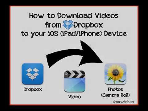 how to download videos from dropbox to your ipad or iphone youtube