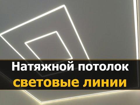 ✅⭐Световые линии на натяжном потолке, профиль FLEXY ПФ-3645 | Натяжные потолки Кострома - МнеПотолок