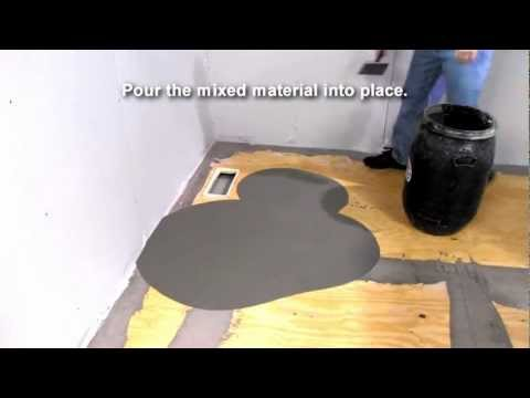 ARDEX Liquid BackerBoard® Self-Leveling Underlayment - Demonstration