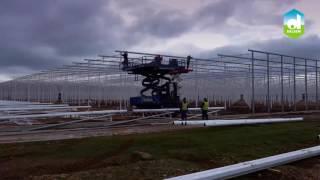 Строительство голландской теплицы в 3 х минутном ролике