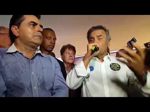 Aécio Neves fala na convenção do PSDB em BH