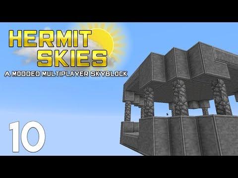 ► BASE DESIGN TIME! | Hermit Skies #10 | Modded Minecraft◄