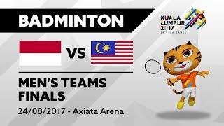 KL2017 29th SEA Games | Badminton - Men's Team FINALS - INA 🇮🇩 vs MAS 🇲🇾 | 24/08/2017