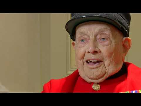 WWII veterans George Parsons and Jeffrey Haward appear on ITV News