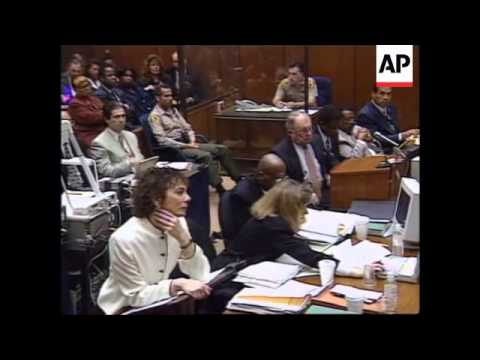 USA: OJ SIMPSON TRIAL: DETECTIVE TESTIFIES