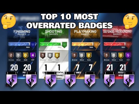 THE TOP 10 MOST OVERRATED BADGES IN NBA 2K20!