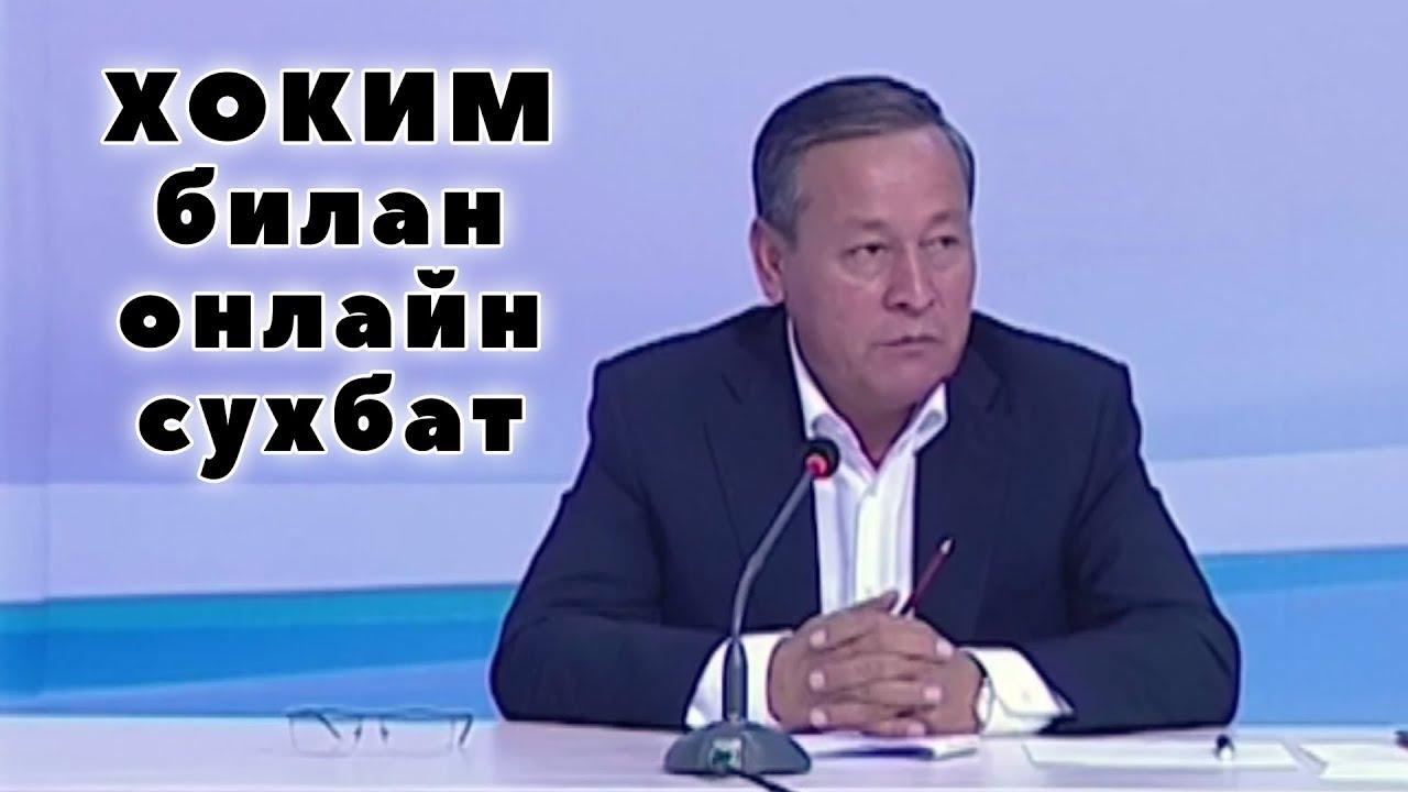 Андижон хокими Шухрат Абдурахмонов онлайн қабулда халқнинг  муаммоларини ўрнида хал қилиб берди