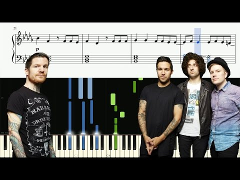 Fall Out Boy - Young And Menace - Piano Tutorial + SHEETS