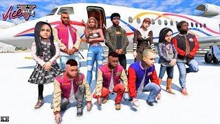 GTA 5- FAMILY TRIP TO MIAMI (GTA 5 Real Life Mods)