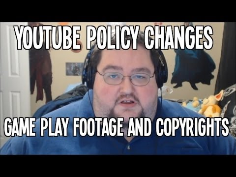 Youtube's Copyright Changes to Game play Footage