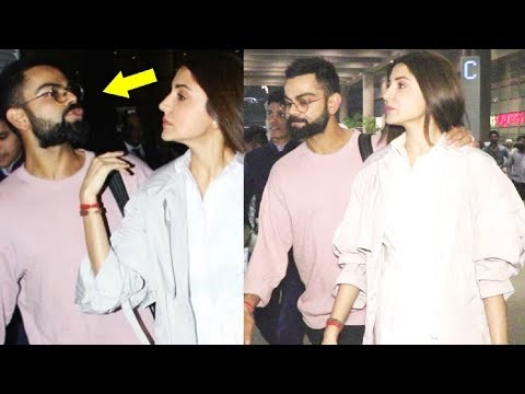Virat Kohli Sweet Gesture For Wife Anushka Sharma As He Receives Her From Airport