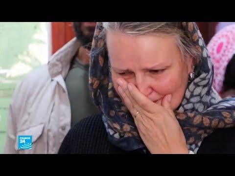 تأثر منسقة الشؤون الإنسانية في اليمن عند رؤية ضحايا الغارة الجوية في صعدة  - نشر قبل 59 دقيقة