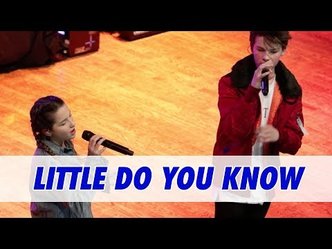 Annie LeBlanc & Hayden Summerall - Little Do You Know (Live in Dallas)