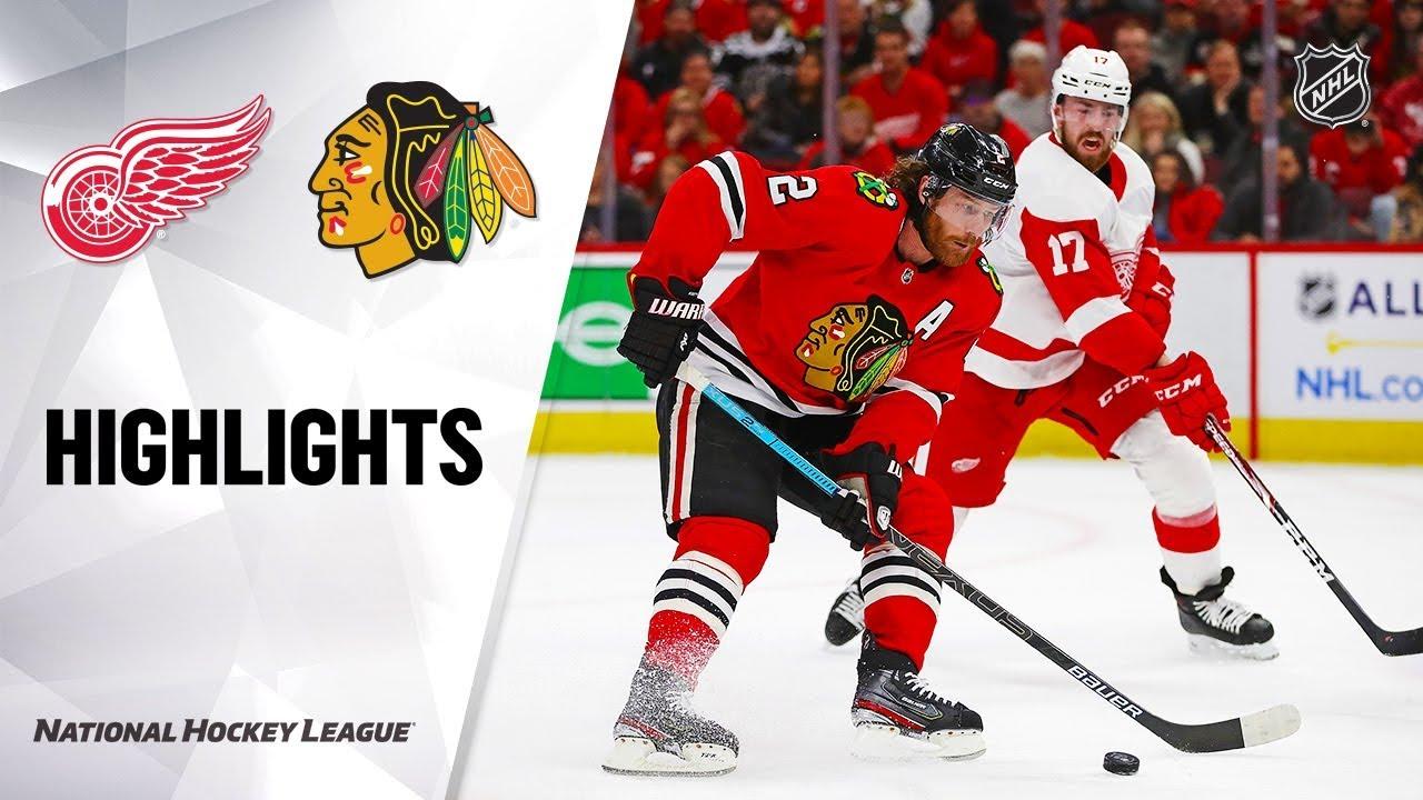 NHL Highlights | Red Wings @ Blackhawks 1/5/20