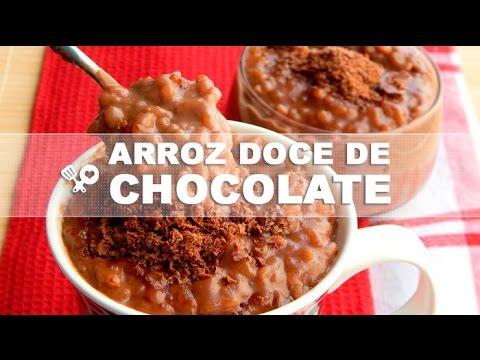 Aprenda a fazer arroz doce de chocolate