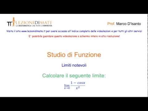 Calcolare Il Lim [(1-cosx)/x²], Per X → 0