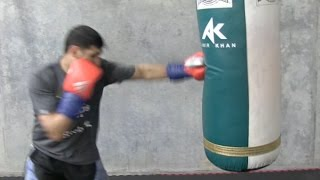 AMIR KHAN **EXCLUSIVE** TRAINING FOOTAGE FROM VIRGIL HUNTER'S GYM -  SAN FRANCISCO