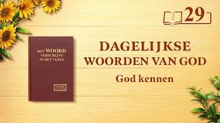 Dagelijkse woorden van God | Gods werk, Gods gezindheid en God Zelf I | Fragment 29