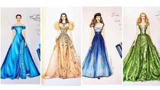 Thiết Kế Thời Trang/Những Bản Phác Thảo Thời Trang Đẹp Của Zuhair Murad,Dior,Valentino,Ellie Sabb...