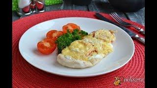 Отбивные из куриного филе с луком, помидорами и сыром на пару Для детей