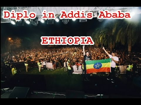 World famous DJ Diplo live in Addis Ababa, Ethiopia