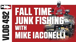Mike Iaconelli Fall Time Junk Fishing on Lake A in New Jersey - Tackle Warehouse VLOG #492
