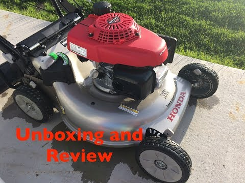 Honda Lawn Mower HRR216 Unboxing and Review.