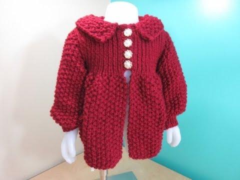 Como tejer abrigo de nina a crochet