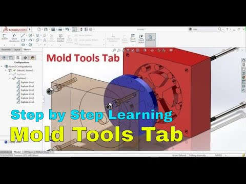 SolidWorks Tutorial: Using Mold Tools Tab to Create Core and Cavity of Mold