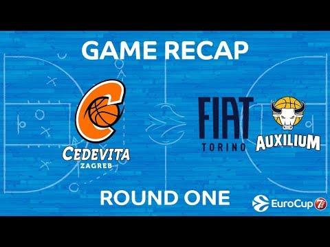 Highlights: Cedevita Zagreb - Fiat Turin