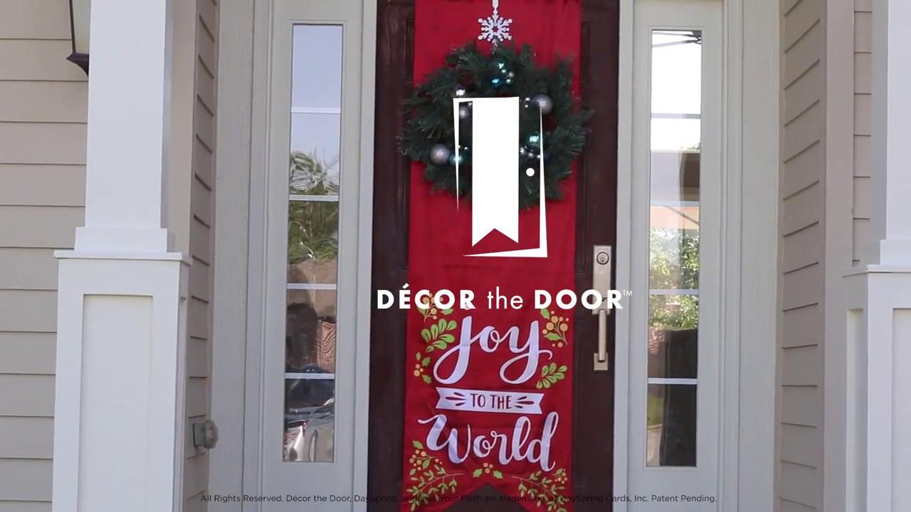 Décor the Door \u2013 Door Banners from DaySpring & Décor the Door \u2013 Door Banners from DaySpring - YouTube