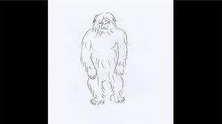 How To Draw a Yeti