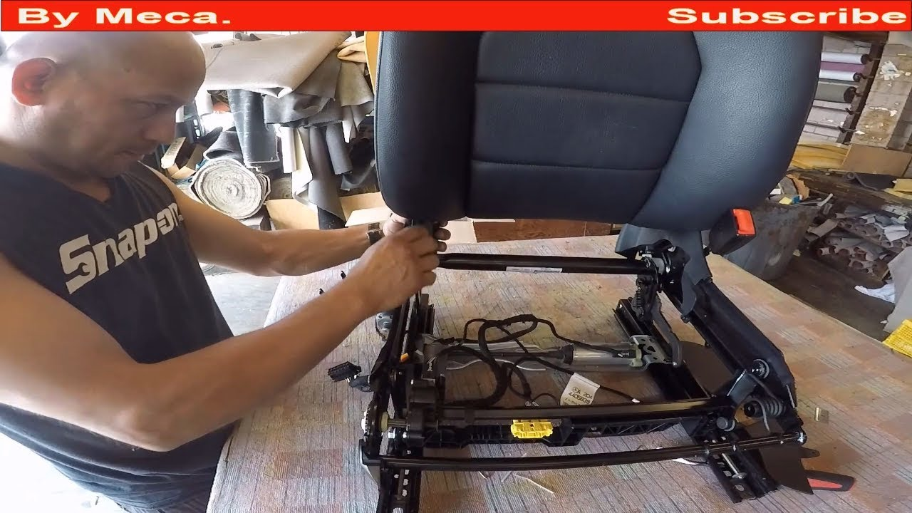 How To Replace Mercedes Benz Seat Track Auto Upholstery Youtube