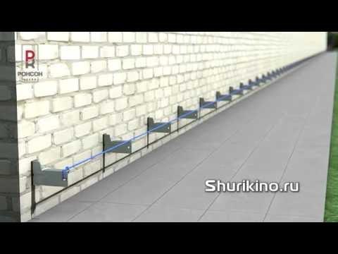 Видео урок Установка базовых кронштейнов навесного вентилируемого фасада вентфасада Ронсон-500