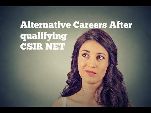 Career Options After Qualifying CSIR NET Exam - Job Options