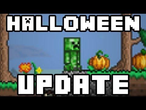 Terraria - Halloween Update coming to Terraria PC - Creeper outfit, pumpkins + more!